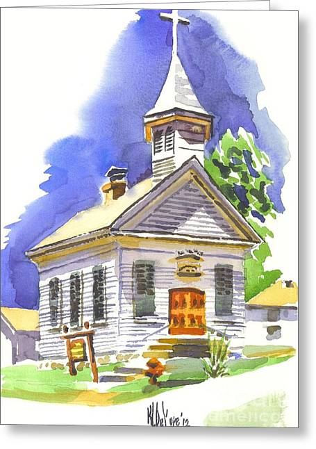 Evangelical Greeting Cards - Immanuel Evangelical Lutheran Church Pilot Knob Missouri Greeting Card by Kip DeVore