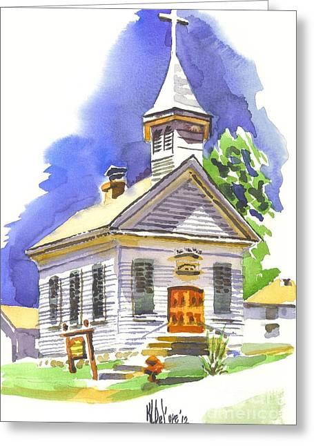 Immanuel Evangelical Lutheran Church Pilot Knob Missouri Greeting Card by Kip DeVore