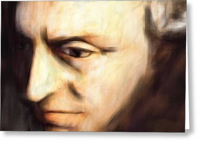 Immanuel Greeting Cards - Immanuel Kant Greeting Card by Michael Kuelbel