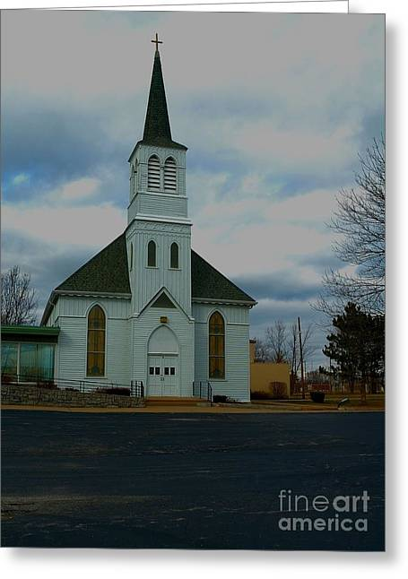 Wentzville Greeting Cards - Immanuel Lutheran Church I Greeting Card by Bob Fromm