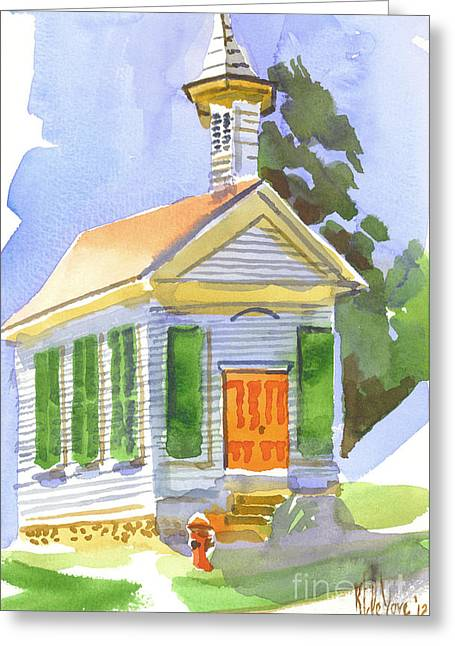 Evangelical Greeting Cards - Immanuel Lutheran Church in May Sunshine Greeting Card by Kip DeVore