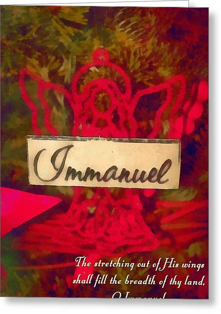 Angels Breath Greeting Cards - Immanuel Greeting Card by Michelle Greene Wheeler