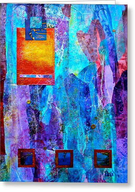Geometric Effect Greeting Cards - Immersion Greeting Card by Debi Starr