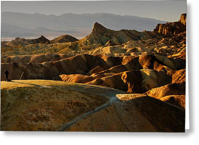 Beautiful Creek Greeting Cards - Immersive Zabriskie Point Greeting Card by Dan Mihai