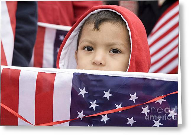 Rally Greeting Cards - Immigrant Greeting Card by Jim West