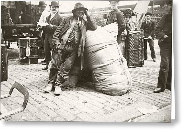 Untidy Greeting Cards - Immigrants, New York City, 1890s Greeting Card by Miriam And Ira D. Wallach Division Of Art, Prints And Photographs