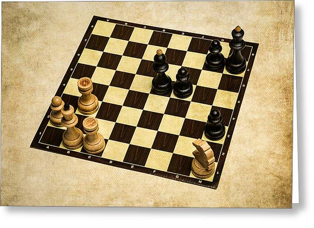 Chess Rook Greeting Cards - Immortal Chess - Anand vs Topalov 2005 Greeting Card by Alexander Senin