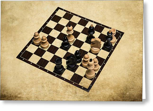 Chess Rook Greeting Cards - Immortal Chess - Deep Blue Computer vs Kasparov 1996 Greeting Card by Alexander Senin