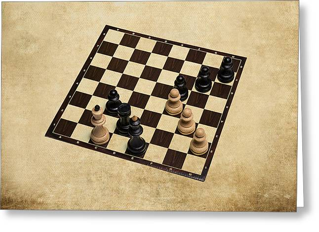 Chess Piece Greeting Cards - Immortal Chess - Kasparov vs Topalov 1999 Greeting Card by Alexander Senin