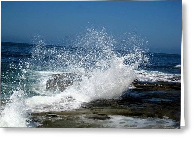 Tidal Photographs Greeting Cards - Impact Of The Sea Greeting Card by Melissa McCrann