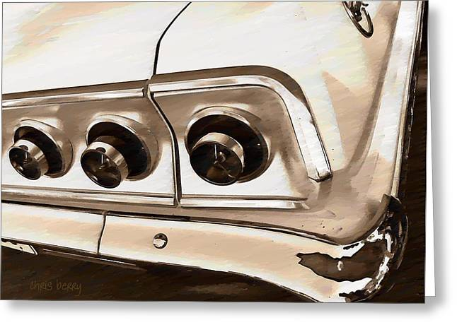 Manipulated Digital Photograph Greeting Cards - Impala Greeting Card by Chris Berry