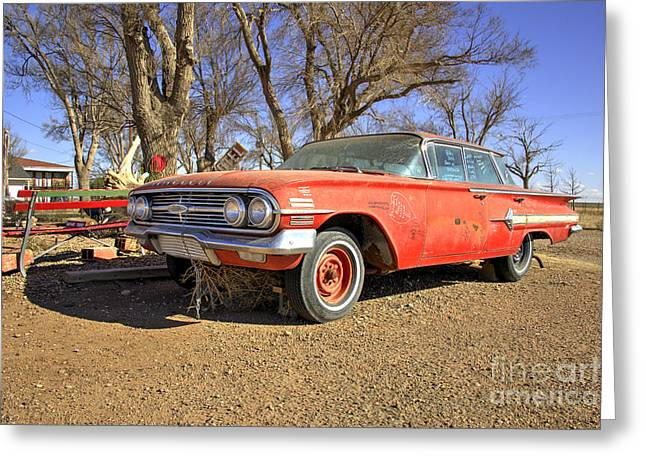Unrestored Greeting Cards - Impala  Greeting Card by Rob Hawkins