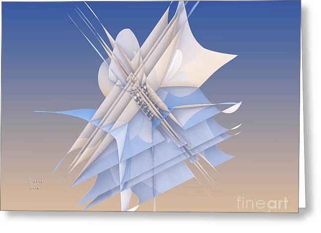Algorithmic Abstract Greeting Cards - Impaled Two Greeting Card by Melissa Messick