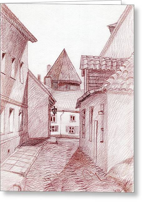 Tallinn Greeting Cards - Impasse Greeting Card by Serge Yudin