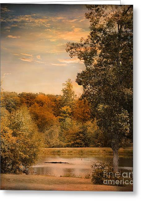 Autumn Scenes Greeting Cards - Impending Autumn Greeting Card by Jai Johnson