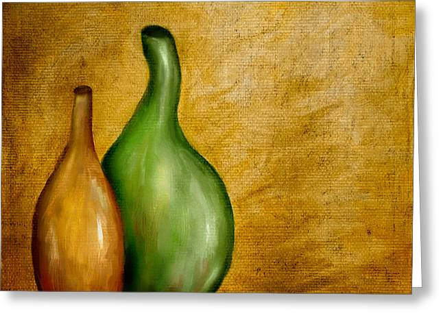 Bryant Greeting Cards - Imperfect Vases Greeting Card by Brenda Bryant