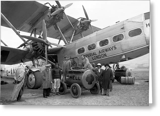 American Airways Greeting Cards - Imperial Airways aeroplane, 1931 Greeting Card by Science Photo Library