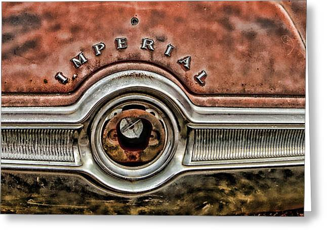 Rusted Cars Greeting Cards - Imperial Crown Coupe Greeting Card by George Buxbaum
