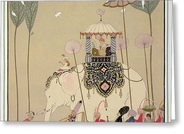Imperial Procession Greeting Card by Georges Barbier