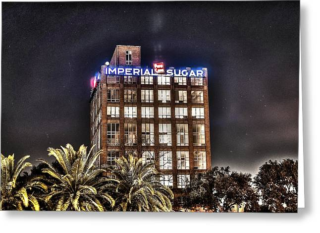 Refined Greeting Cards - Imperial Sugar Mill Greeting Card by David Morefield