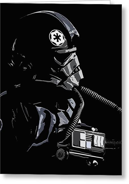 Imperial Tie  Pilot 2 Greeting Card by Brian Stevens