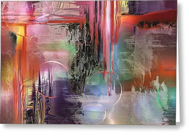 Abstract Digital Paintings Greeting Cards - Imperissable  Greeting Card by Francoise Dugourd-Caput