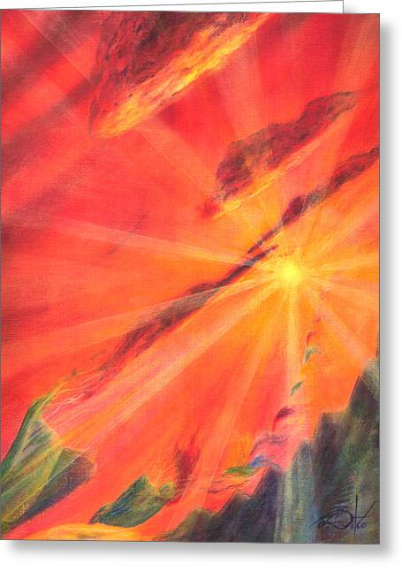 Sun Rays Pastels Greeting Cards - Impermanence Greeting Card by Jim Ditto