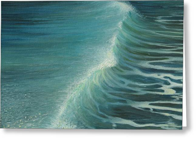 Impetus Summer Wave Greeting Card by Kiril Stanchev