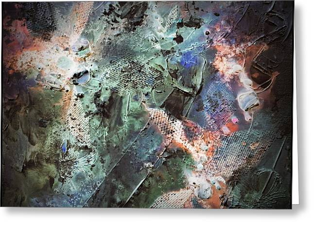 Abstract Universe Greeting Cards - Implosion Greeting Card by Joanne Smoley
