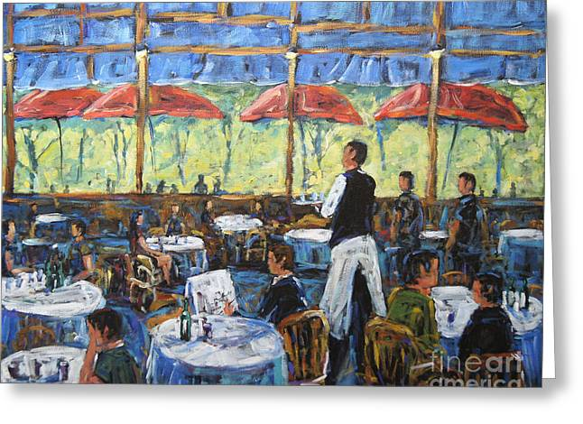 Impresionnist Cafe By Prankearts Greeting Card by Richard T Pranke