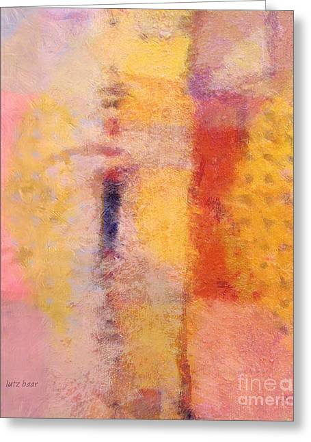 Best Sellers -  - Abstract Digital Paintings Greeting Cards - Impression IV Greeting Card by Lutz Baar