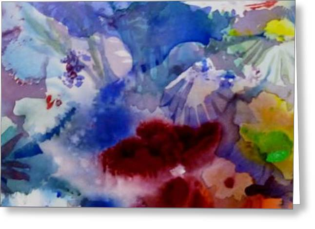 Recently Sold -  - Flower Still Life Prints Greeting Cards - Impression of  Flowers Greeting Card by Donna Acheson-Juillet