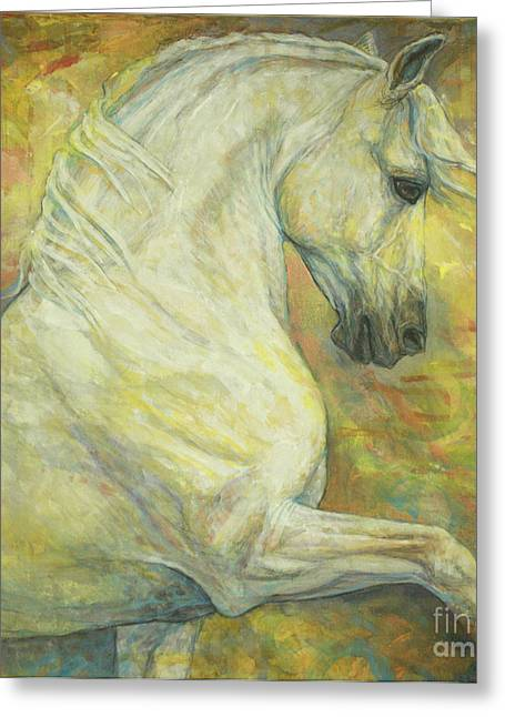 Horse Artist Greeting Cards - Impression Greeting Card by Silvana Gabudean