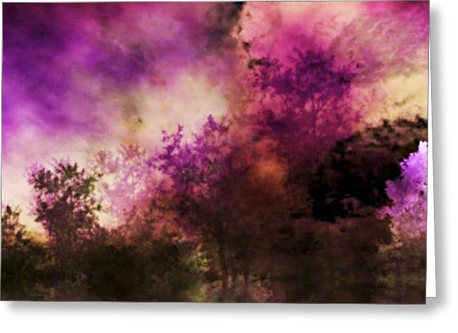 Storm Prints Digital Art Greeting Cards - Impressionism Style Landscape Greeting Card by Maggie Vlazny