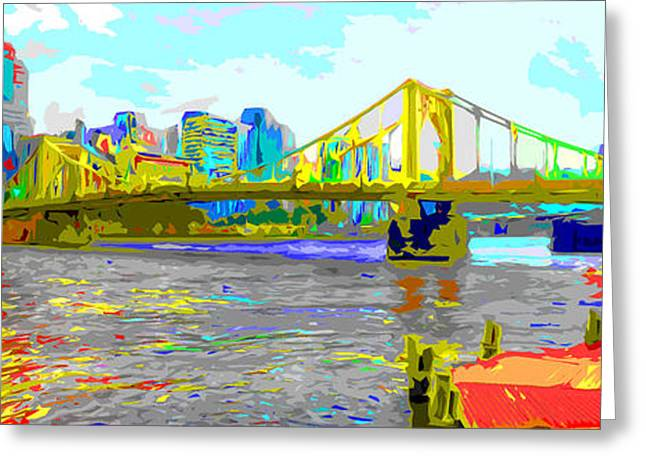 Clemente Greeting Cards - Impressionist Clemente Bridge 2 Greeting Card by C H Apperson