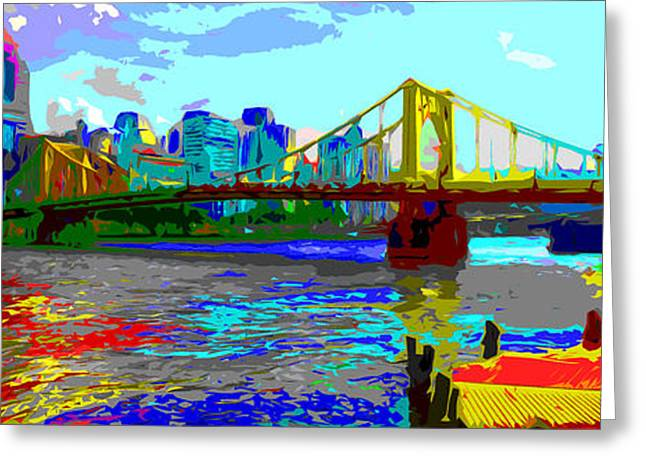Clemente Greeting Cards - Impressionist Clemente Bridge Greeting Card by C H Apperson