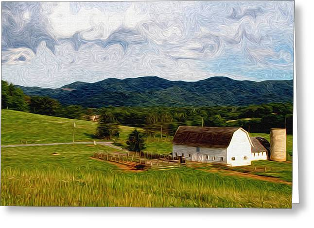 Warren Wilson College Greeting Cards - Impressionist Farming Greeting Card by John Haldane