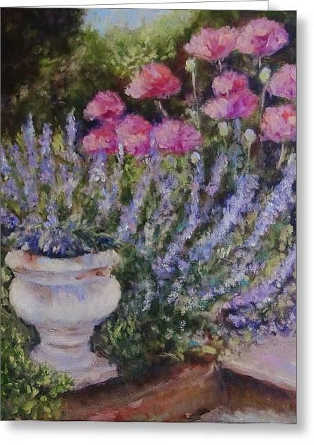 Karen Walker Greeting Cards - Impressionist Garden No. 3 Greeting Card by Karen Walker
