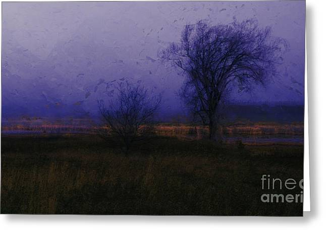Julielueders Greeting Cards - Impressionist landscape Greeting Card by Julie Lueders