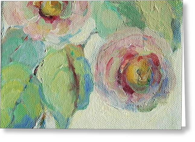 Mary Wolf Greeting Cards - Impressionist Roses  Greeting Card by Mary Wolf