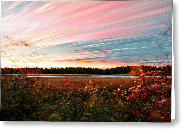 Impressionistic Autumn Greeting Card by Matt Molloy