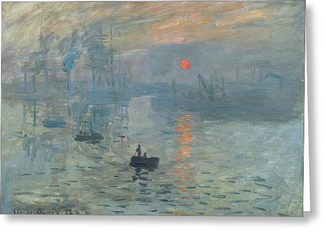 Pourville Greeting Cards - Sunset Greeting Card by Claude Monet