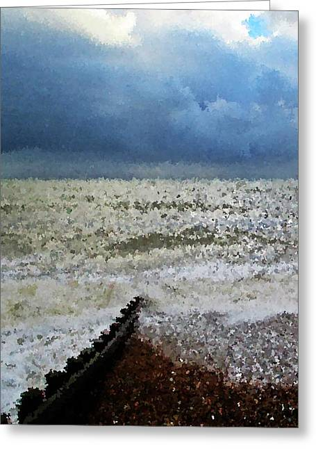 Impressionistic Ocean Greeting Card by Sharon Lisa Clarke