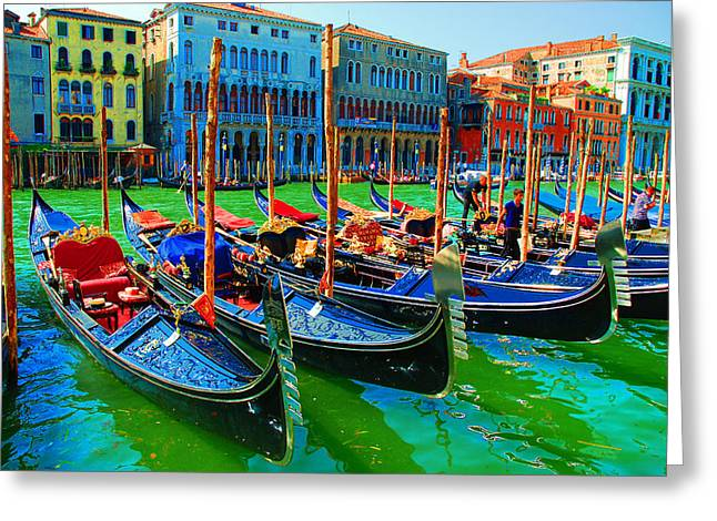 Energetic Greeting Cards - Impressionistic photo paint GS 009 Greeting Card by Catf