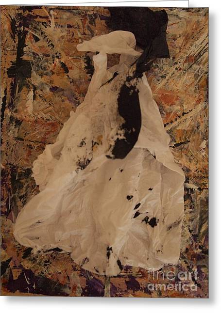 White Dress Sculptures Greeting Cards - Impressions 2 Greeting Card by Nancy Kane Chapman
