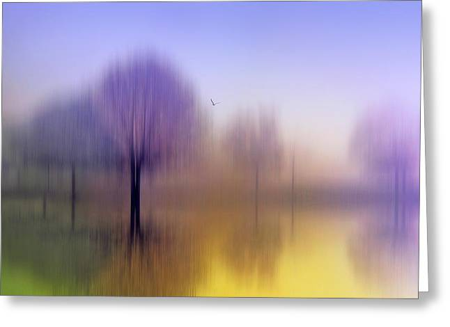 Blur Greeting Cards - Impressions Greeting Card by Jessica Jenney