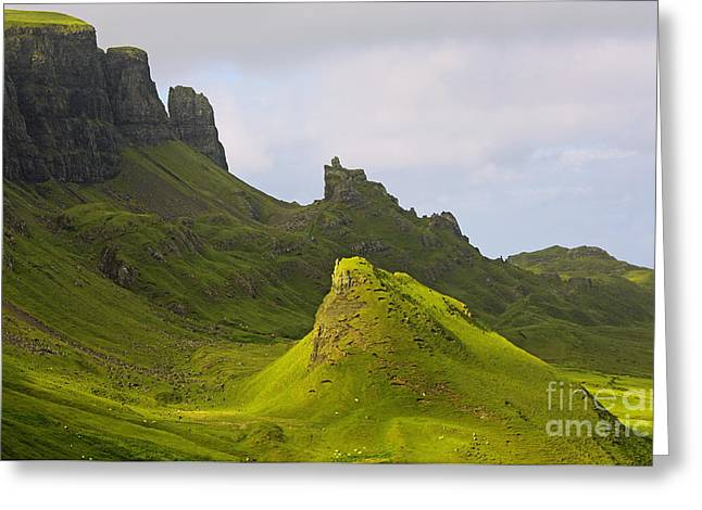 Inseln Greeting Cards - impressions of scotland - quiraing II Greeting Card by Meleah Fotografie