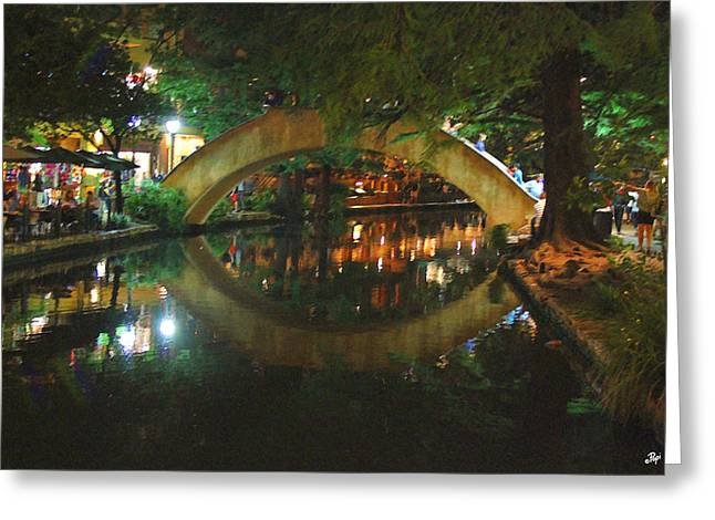 River Walk Greeting Cards - Impressions on the River Greeting Card by Paul Anderson