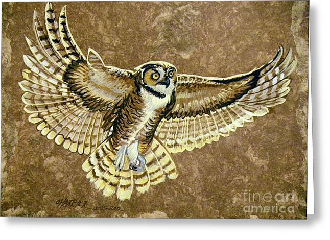 Amate Bark Paper Greeting Cards - Impressive Wings Greeting Card by Anne Shoemaker-Magdaleno
