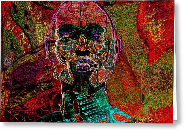 African-american Paintings Greeting Cards - Imprint of proof Greeting Card by Reggie Duffie